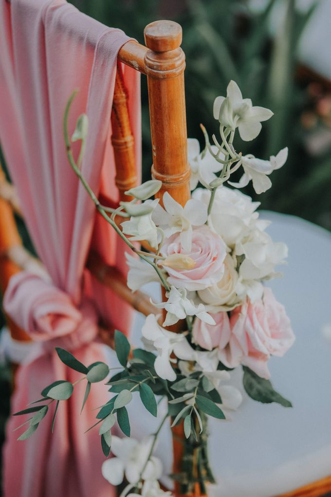Blush Pastel Wedding by Bali Flower Decor - 002