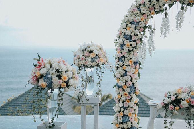 Blush Pastel Wedding by Bali Flower Decor - 008