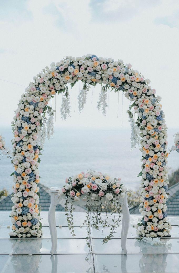 Blush Pastel Wedding by Bali Flower Decor - 009