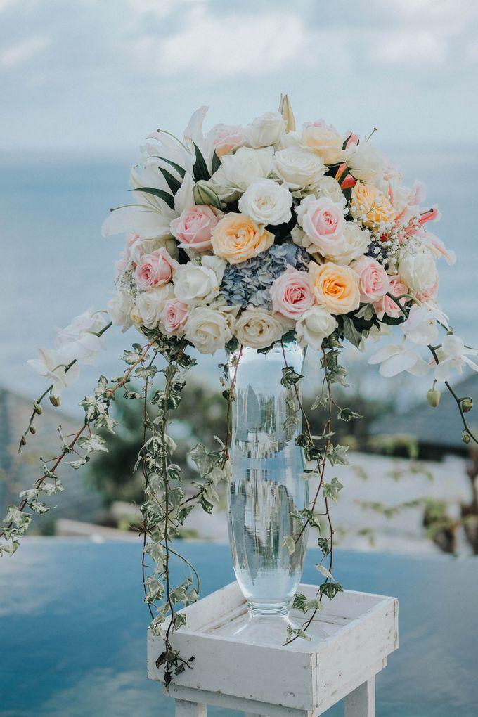 Blush Pastel Wedding by Bali Flower Decor - 010