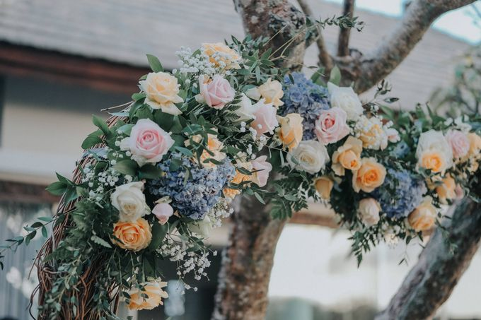 Blush Pastel Wedding by Bali Flower Decor - 015