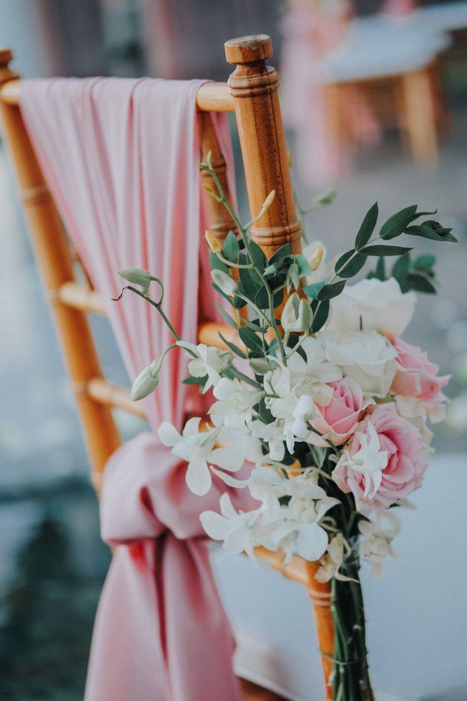 Blush Pastel Wedding by Bali Flower Decor - 016