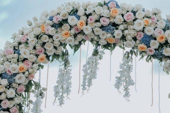 Blush Pastel Wedding by Bali Flower Decor - 017