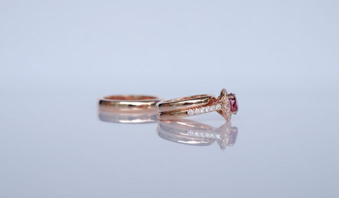 Seamless Wedding and Engagement Ring Set by Heritage Gems Singapore - 002