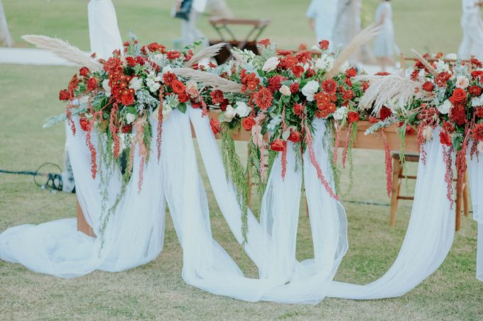 Celine and Paul Wedding at kempinski by Bali Flower Decor - 013