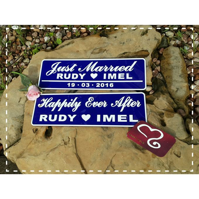 Wedding Car Plate by Sweetlovecollection - 004