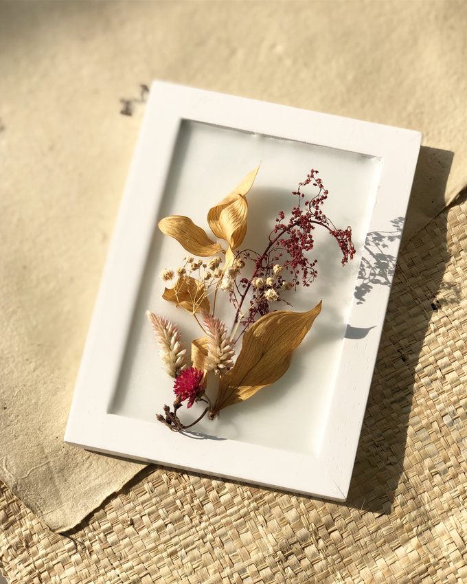 Custom scented wax art frame for Farewell Gift by é.clat - 001