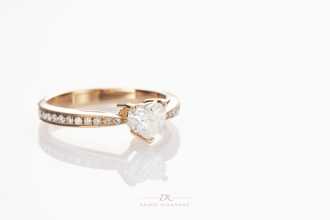 Heart-shaped Diamond Engagement Ring by Draco Diamonds - 002