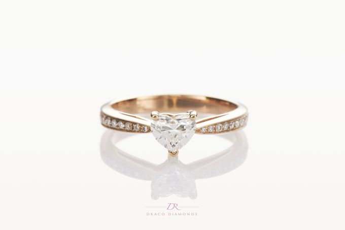 Heart-shaped Diamond Engagement Ring by Draco Diamonds - 003