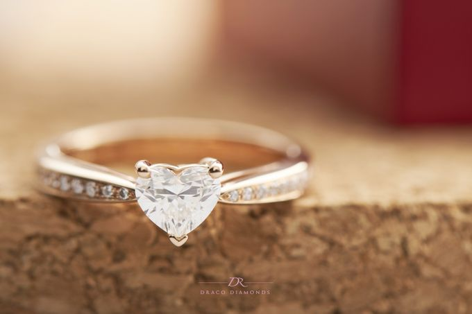 Heart-shaped Diamond Engagement Ring by Draco Diamonds - 005