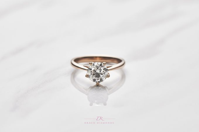 Five-Prong Solitaire Engagement Ring by Draco Diamonds - 003