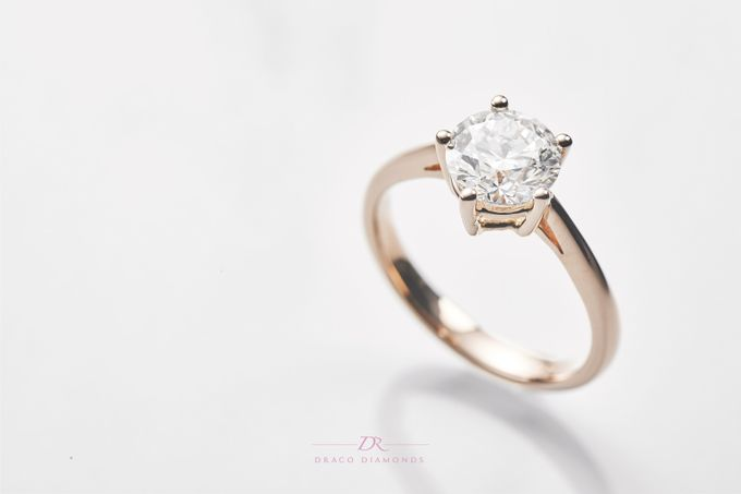 Five-Prong Solitaire Engagement Ring by Draco Diamonds - 005