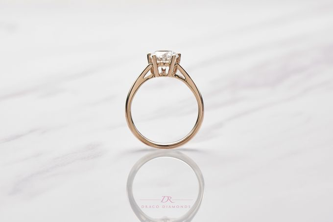 Five-Prong Solitaire Engagement Ring by Draco Diamonds - 004