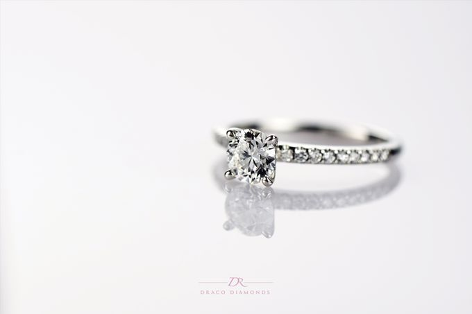 U-cut Pave Engagement Ring by Draco Diamonds - 001