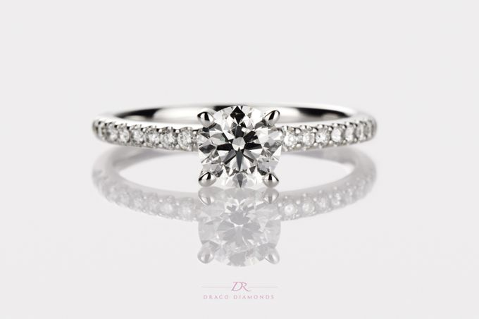 U-cut Pave Engagement Ring by Draco Diamonds - 002