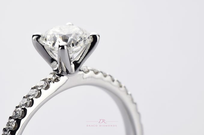 U-cut Pave Engagement Ring by Draco Diamonds - 003