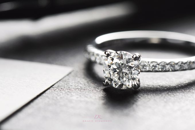 U-cut Pave Engagement Ring by Draco Diamonds - 004