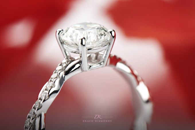 Classic Entwine Engagement Ring by Draco Diamonds - 001
