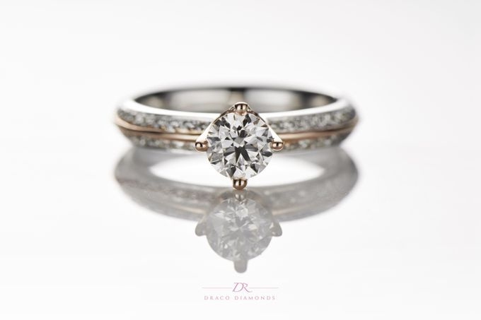 Knife-edge Crown Engagement Ring by Draco Diamonds - 003