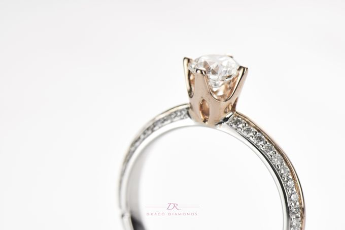 Knife-edge Crown Engagement Ring by Draco Diamonds - 004