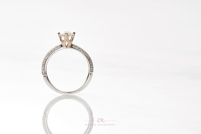 Knife-edge Crown Engagement Ring by Draco Diamonds - 005