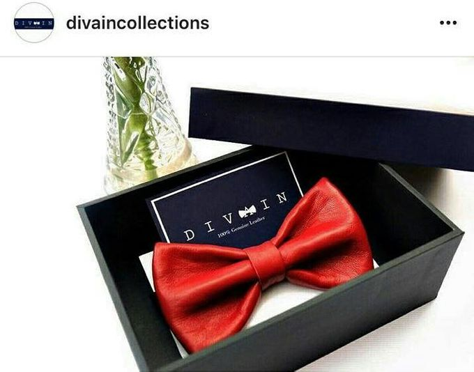 Sheep Leather Bowtie (Italy) by Divaincollections 100% Genuin Leather Italy - 001