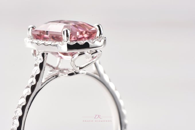 Pink Love Halo Engagement Ring by Draco Diamonds - 002