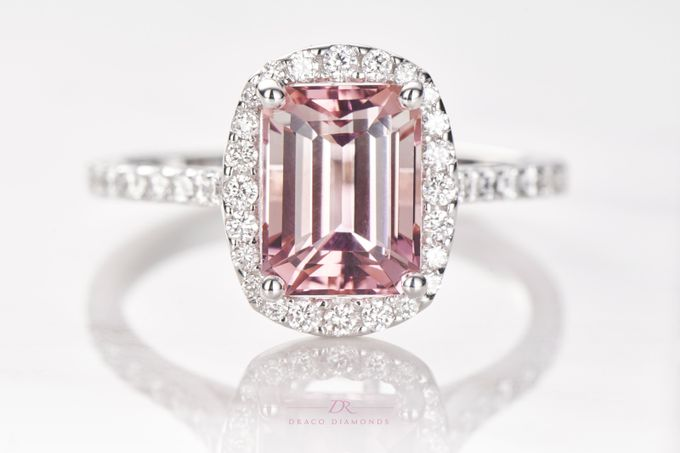 Pink Love Halo Engagement Ring by Draco Diamonds - 004