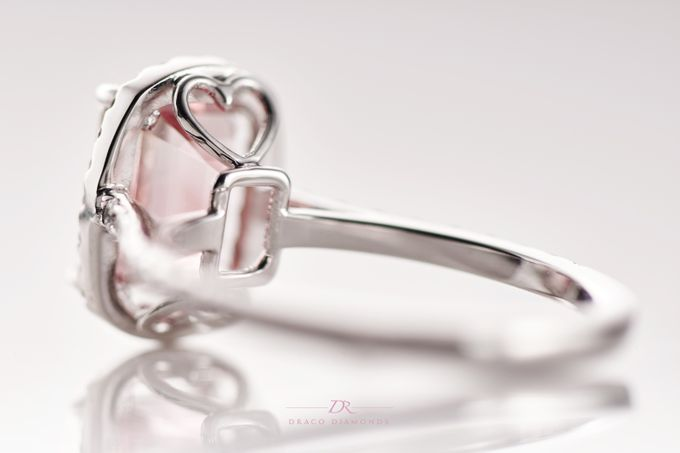Pink Love Halo Engagement Ring by Draco Diamonds - 005