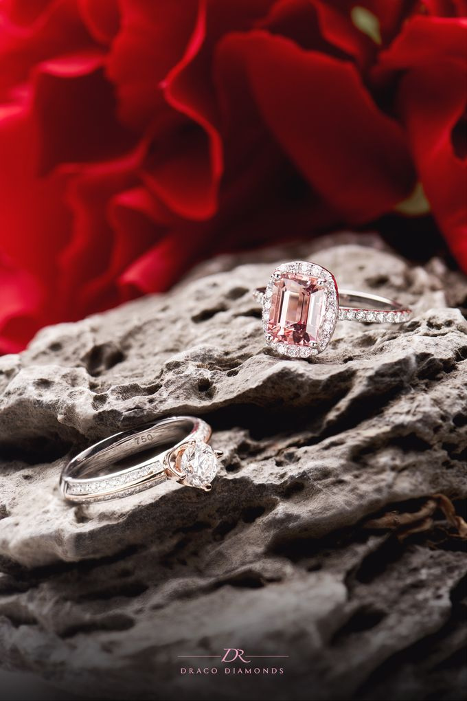 Pink Love Halo Engagement Ring by Draco Diamonds - 006