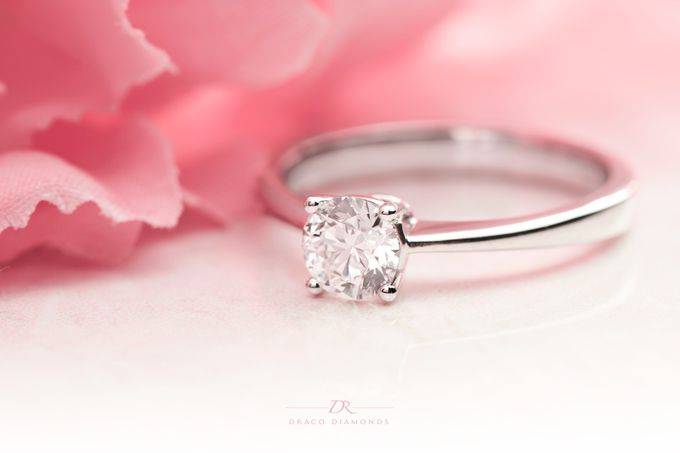 Four-Prong Tapered Solitaire Engagement Ring by Draco Diamonds - 002