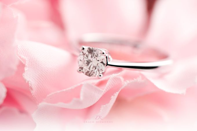 Four-Prong Tapered Solitaire Engagement Ring by Draco Diamonds - 003