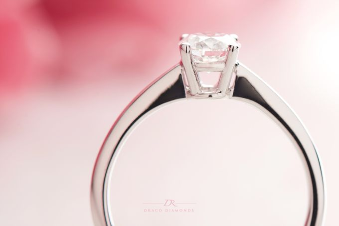 Four-Prong Tapered Solitaire Engagement Ring by Draco Diamonds - 005