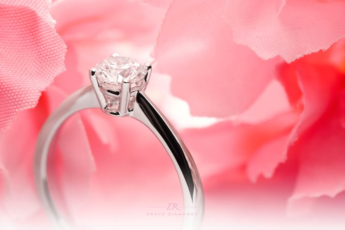 Four-Prong Tapered Solitaire Engagement Ring by Draco Diamonds - 001