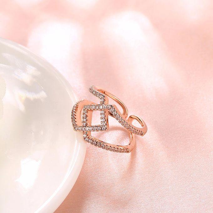 TIARIA Diamond Stack Gold Ring Perhiasan Cincin Emas Berlian by TIARIA - 010