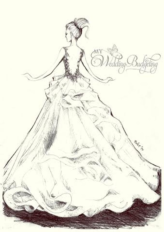 Wedding Gown Sketch by MyWeddingBudgeting Prewed Gowns & New Custom ...