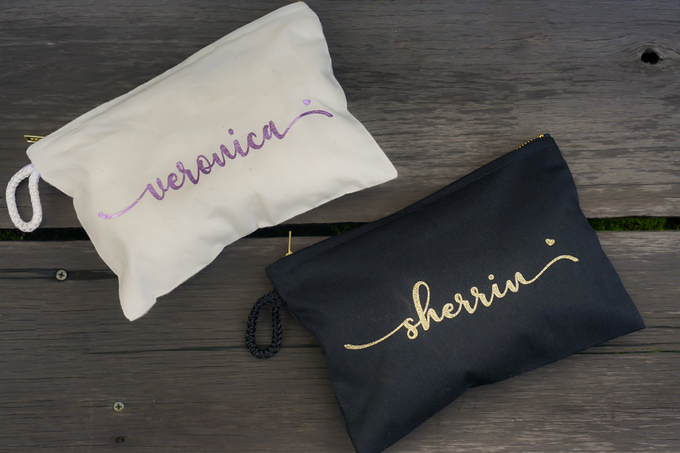 Personalized Bridesmaids Gift Canvas Pouch by Kelsye Studio - 002