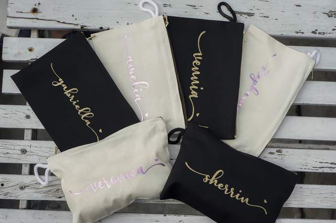 Personalized Bridesmaids Gift Canvas Pouch by Kelsye Studio - 003