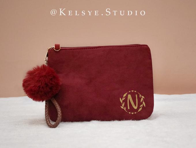 Personalized Velvet Pouch Clutch by Kelsye Studio - 002