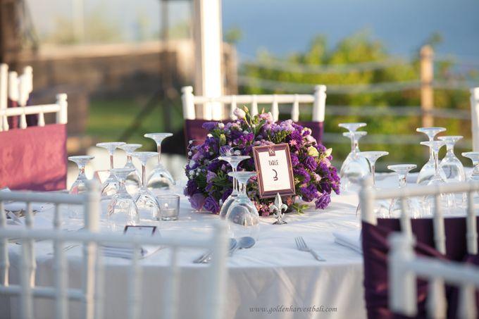 Harvest golf wedding