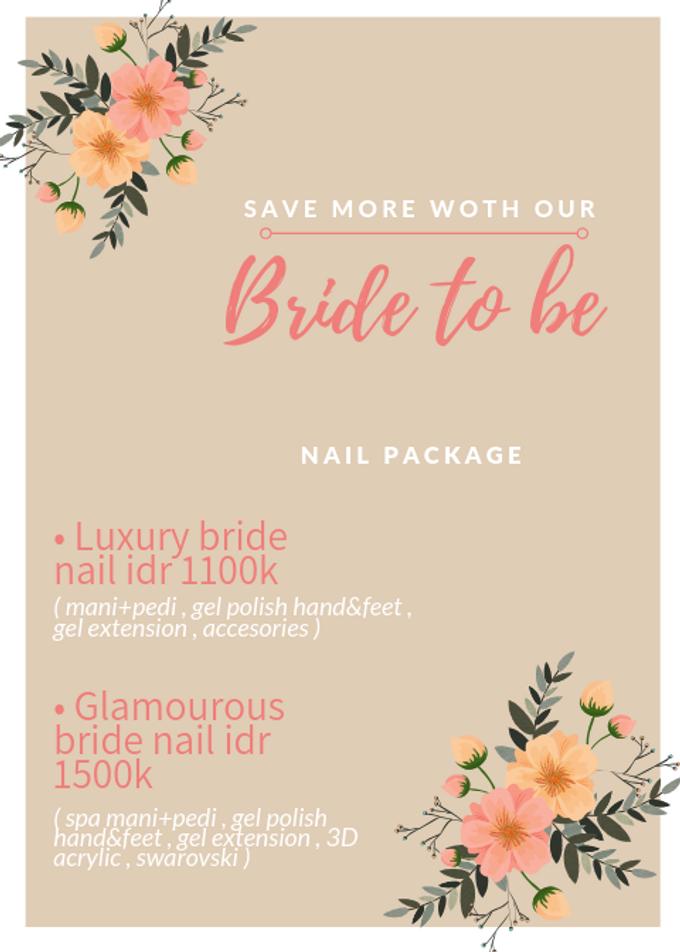 Elegant wedding nails by Elegant Nail Indonesia - 003