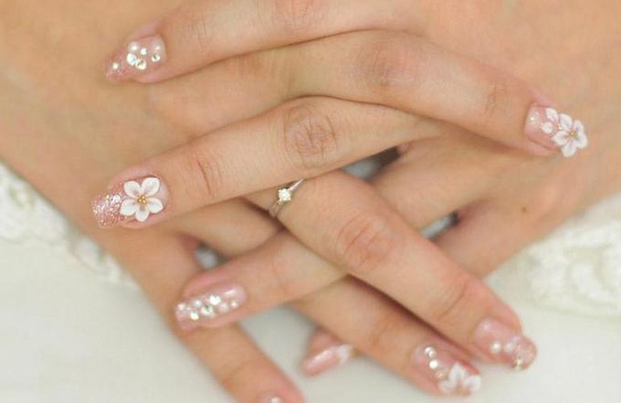 Elegant wedding nails by Elegant Nail Indonesia - 002
