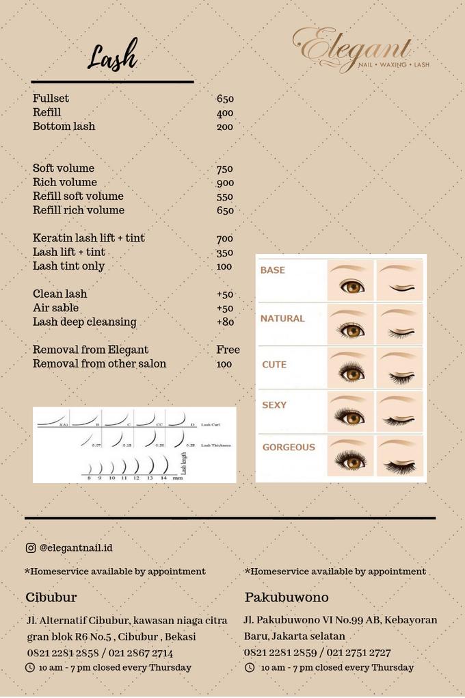 Ala carte price list by Elegant Nail Indonesia - 001