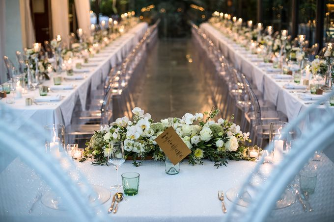 White Nights Wedding Theme Decoration At The Glass House By