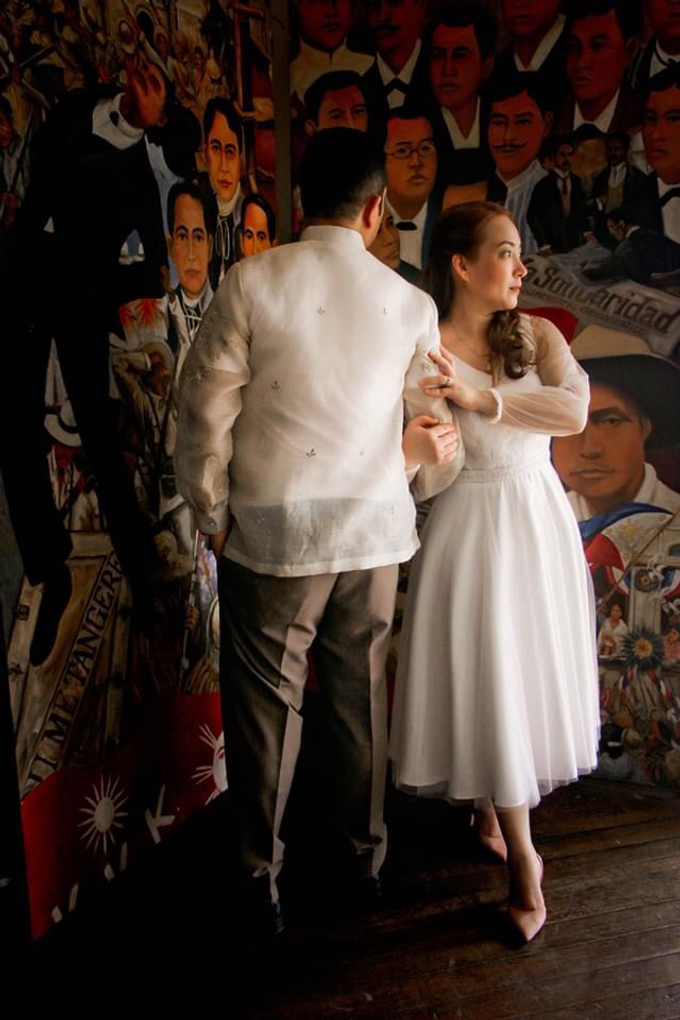 Intimate wedding for Warren and Sarah by Emil Ocampo Fashion House - 006
