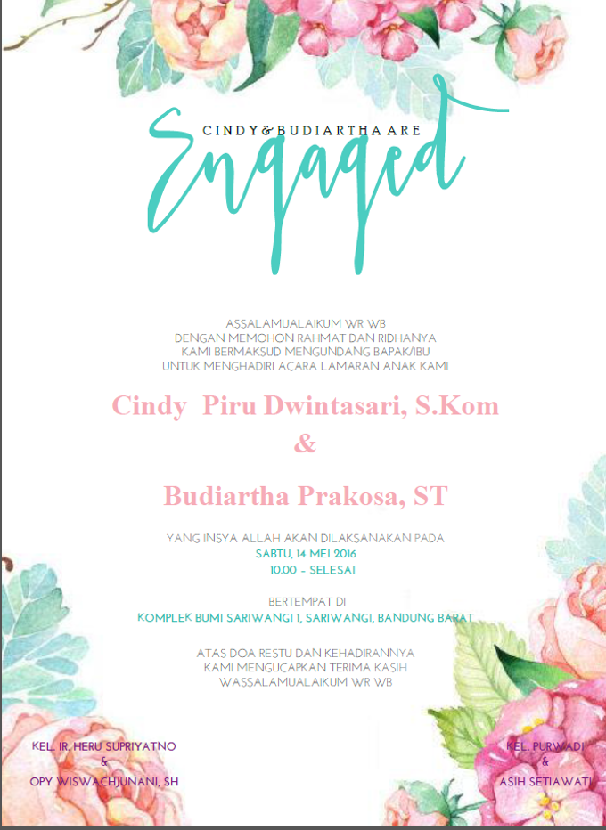 Engagement Invitation by Clar's Invitation - 002