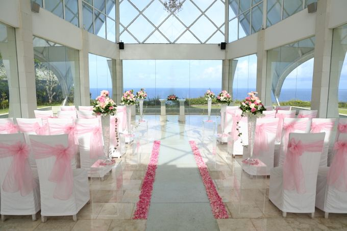 our chapel and water wedding decor by Jc Florist Bali - 013