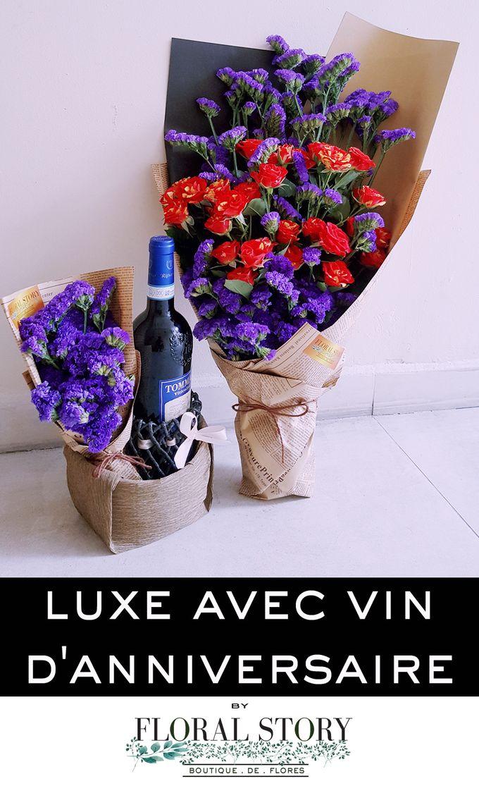 Luxe Avec Vin D Anniversaire by Floral Story Int - 001