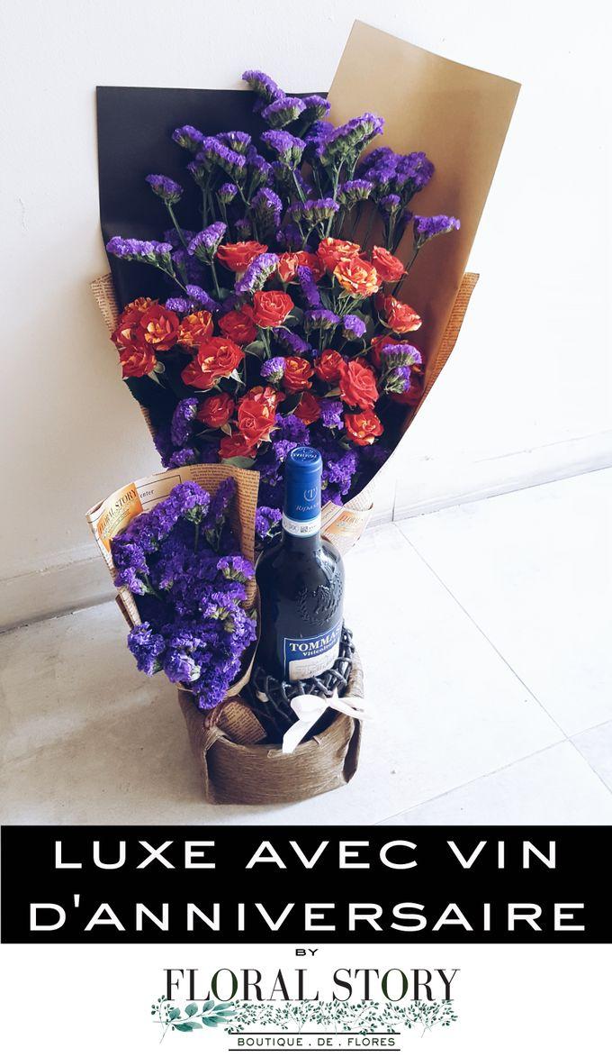 Luxe Avec Vin D Anniversaire by Floral Story Int - 002