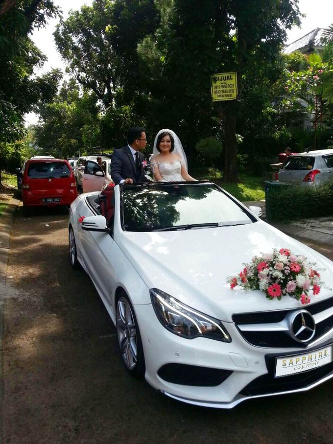 White Mercedes Cabriolet by sapphire wedding car - 001